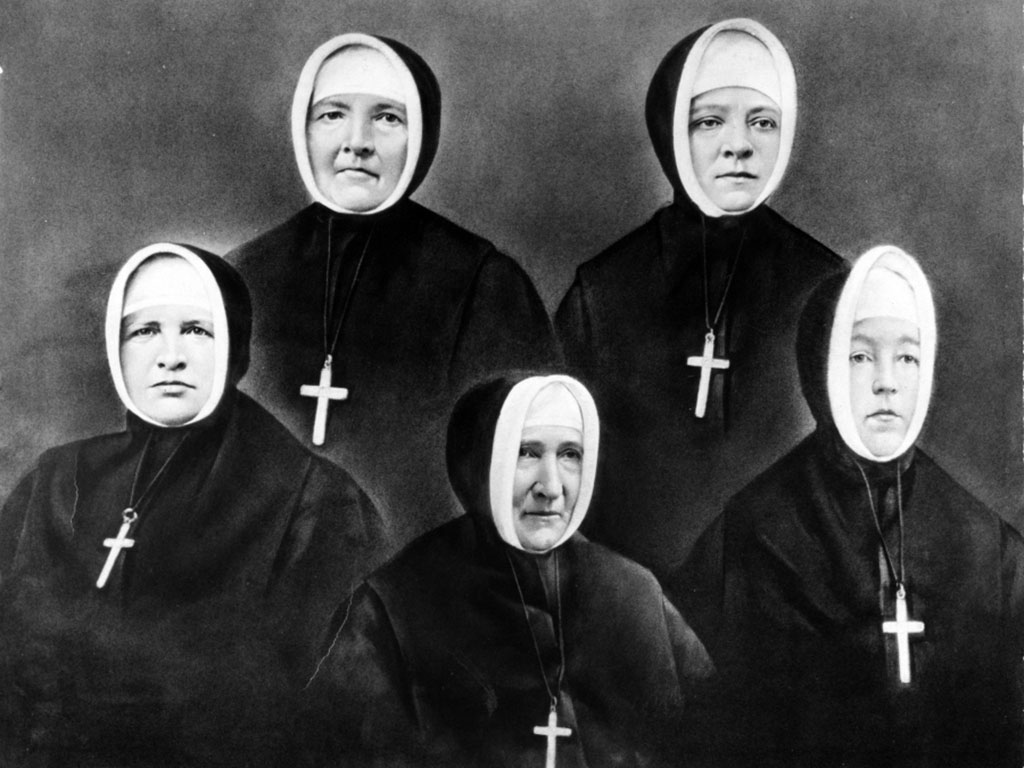 Black and white photo of Sisters of Providence, 1873